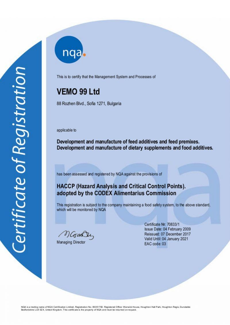 VEMO_HACCP_hazard_analysis_critical_control